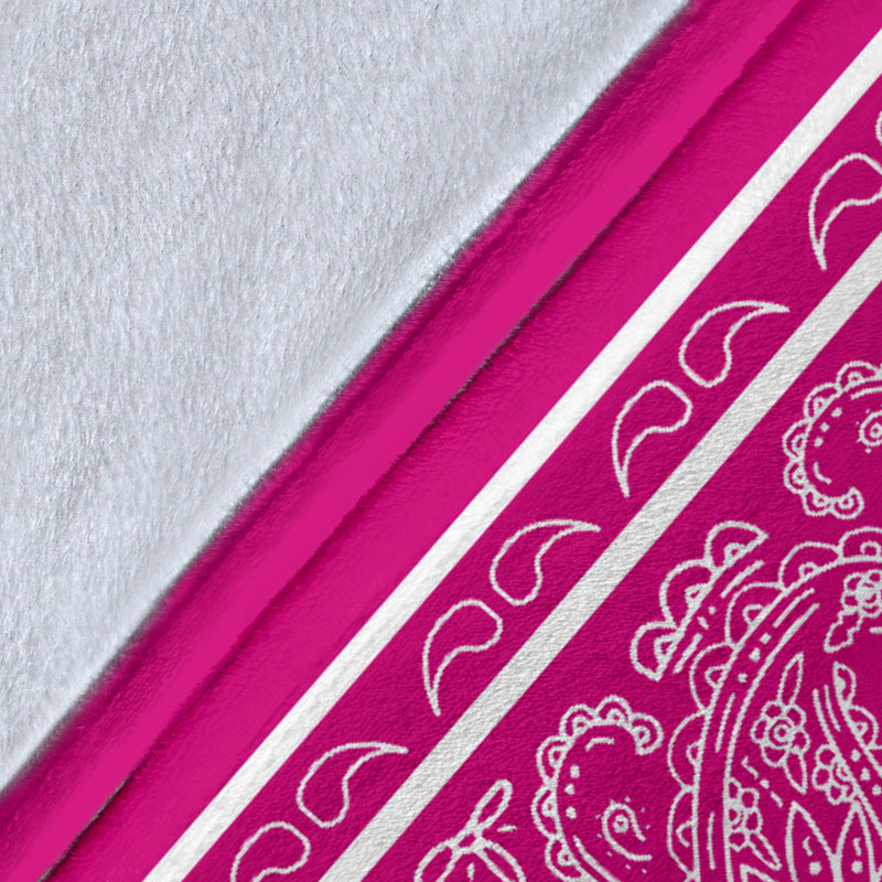 Pink Bandana Throw Blanket Details