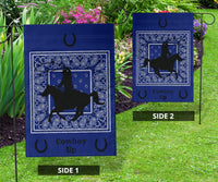 Blue Bandana Cowboy Up Home and Garden Flags