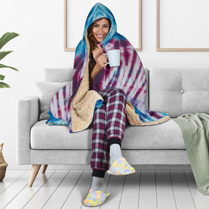 Boho Tie-Dye Hooded Blanket