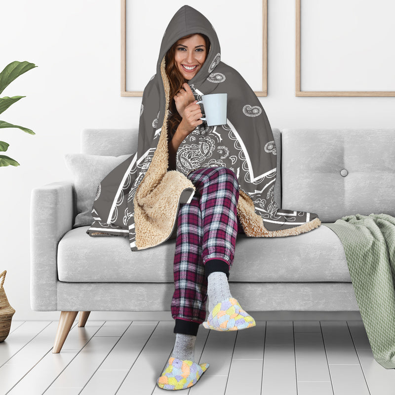 Gray Hooded Blankets