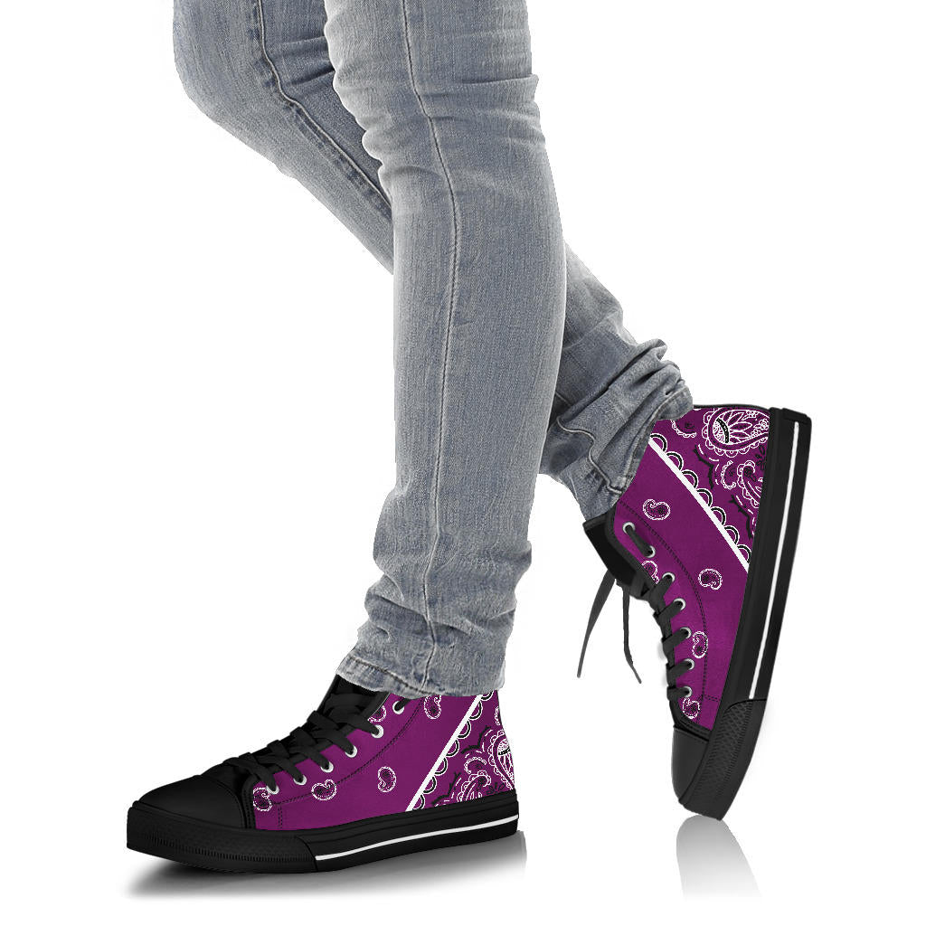 Wild Plum Bandana High Top Sneakers - No Box