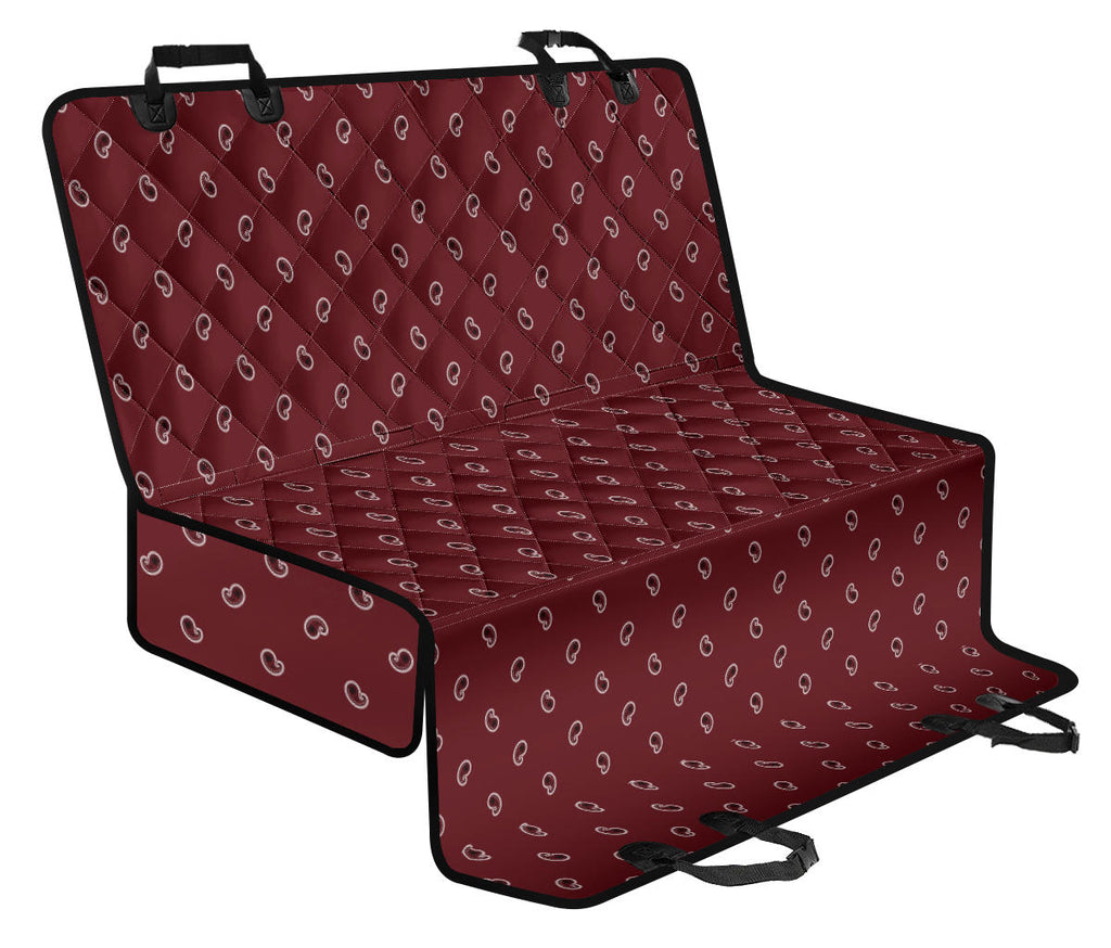 Burgundy Paisley Car Pet Seat Covers