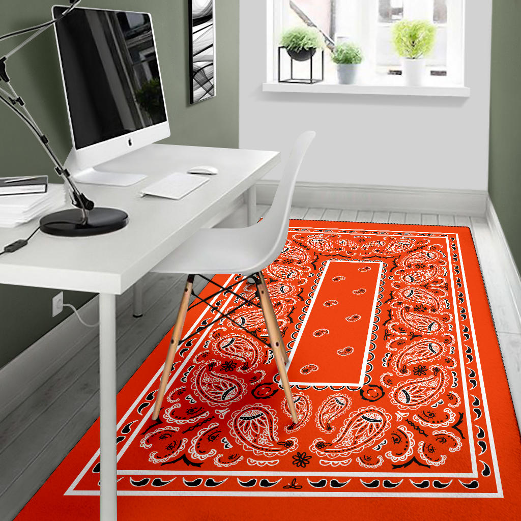 orange throw rugs