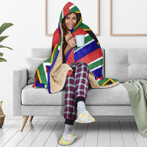 South Africa Flag Hooded Blanket
