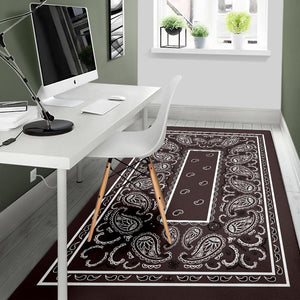 Coffee Brown Bandana Area Rugs - Fitted