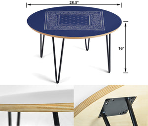 Blue and Gray Bandana Table Assembly