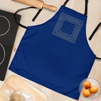 Blue and Gray Bandana Cooking Aprons