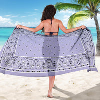 lady holding lavender sarong