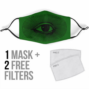 All Seeing Face Mask with 5 Layer Filters