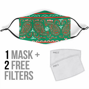 Edge Magic Green Bandana Face Mask