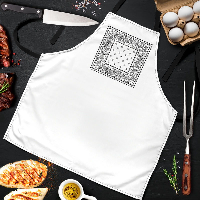 White Bandana Aprons with Food