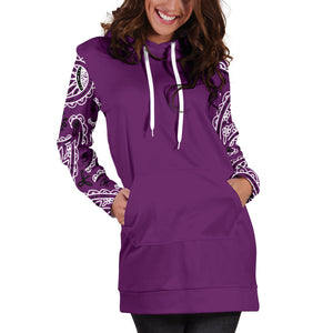Purple Bandana Hoodie Dress