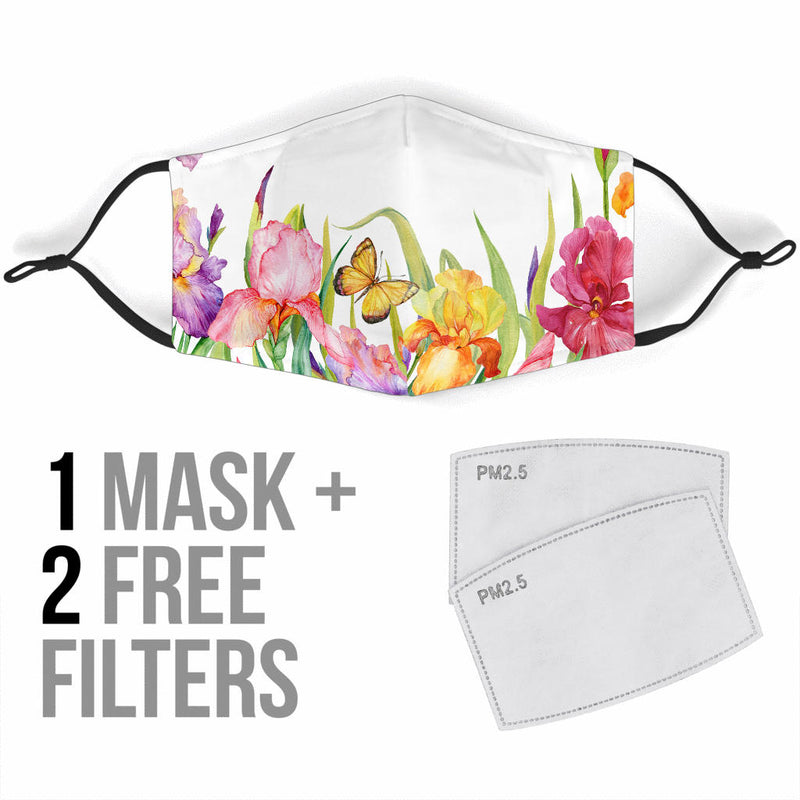 Beautiful Irises Face Masks - 2 Designs
