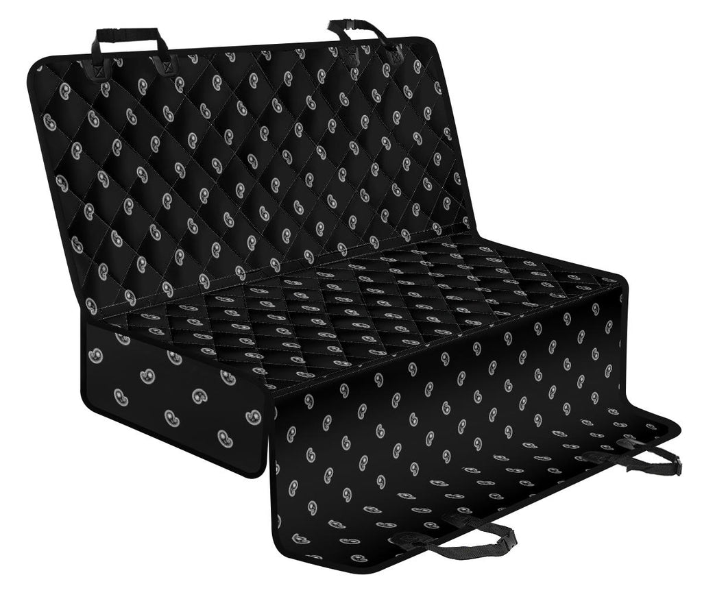 black pet seat cover