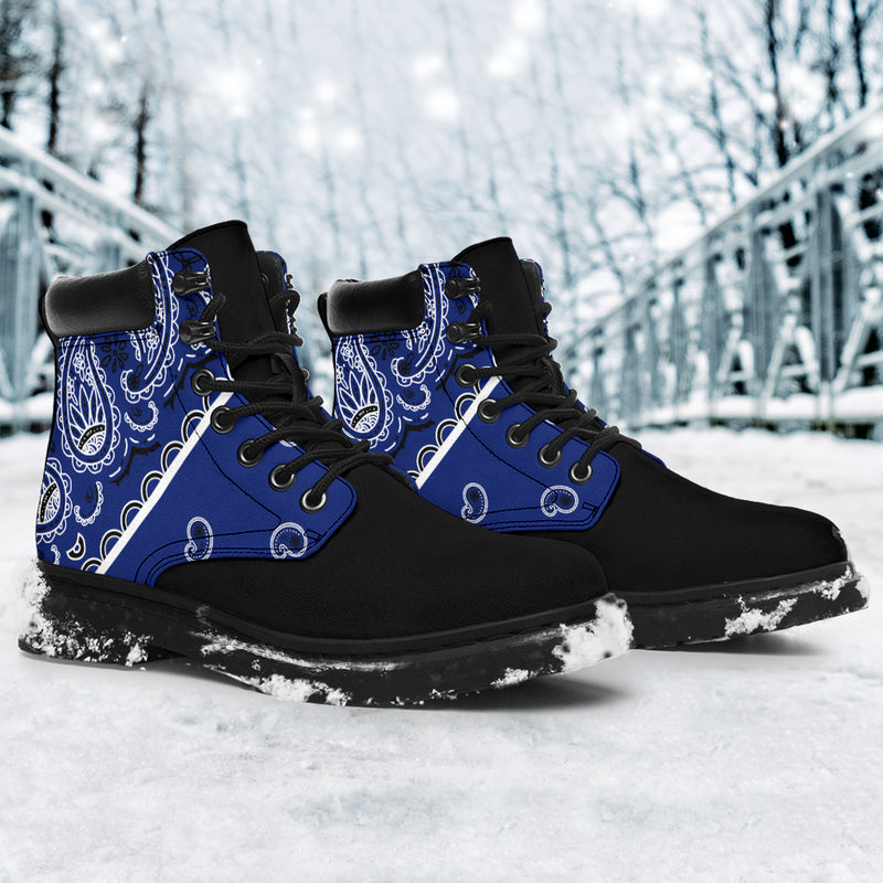 Royal Blue Bandana Blackout All-Season Boots