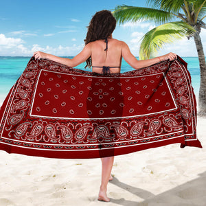 Maroon Bandana Sarongs