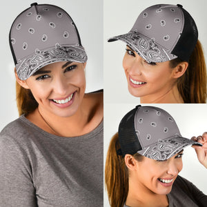 gray bandana mesh back hat