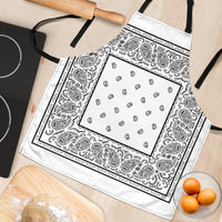 White Big Bandana Apron