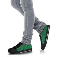 Classic Green Paisley Low Top Sneakers