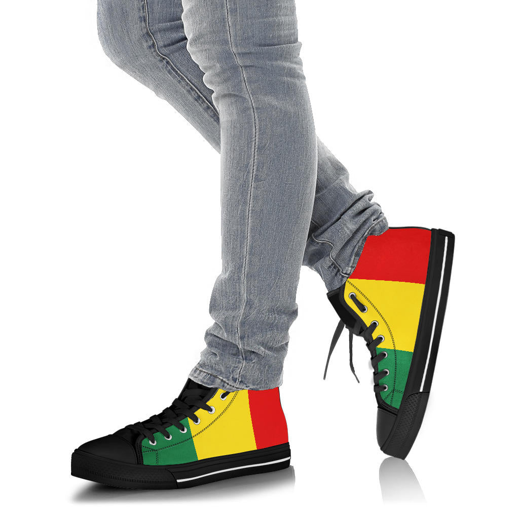 Rasta Joy High Top Sneakers - No Box