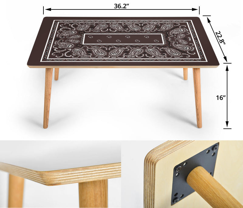 Brown Bandana Rectangular Coffee Table Assembly
