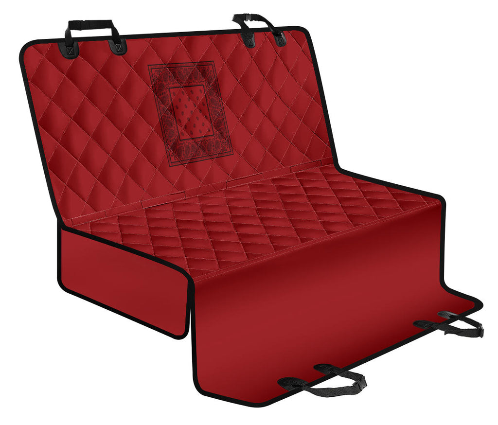 red pet seats covers