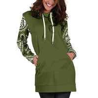 Army Green Bandana Hoodie Dress