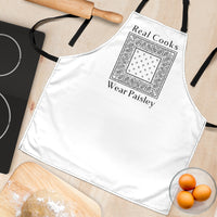 Real Chefs Wear Paisley Apron