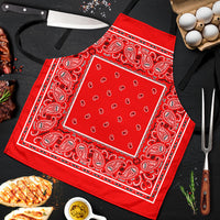Western Red Big Bandana Apron