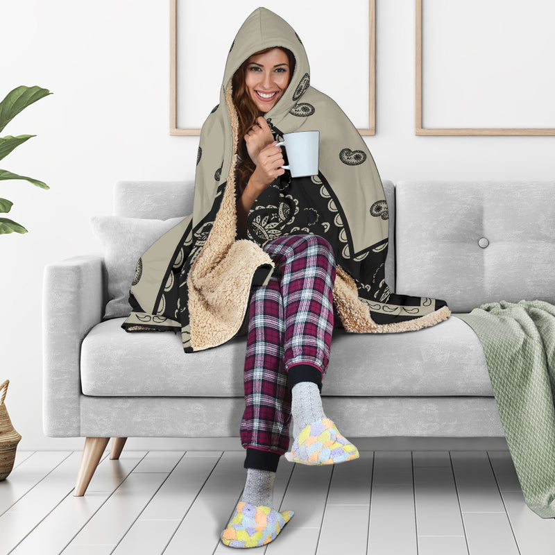 Khaki Hooded Blankets