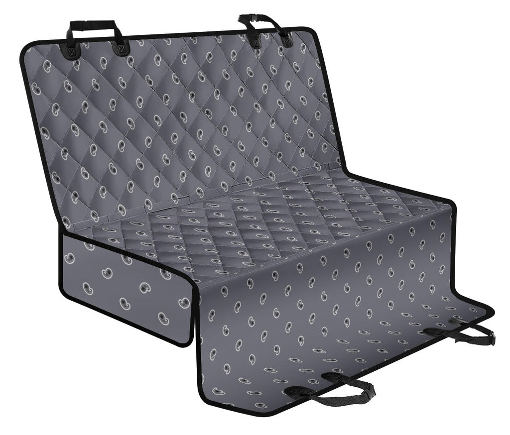Gray Paisley Car Pet Seat Covers
