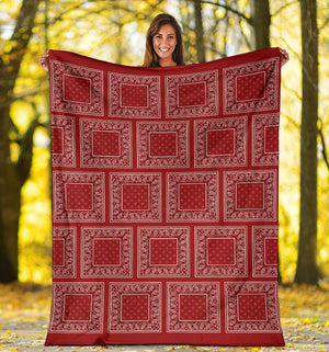 Red Bandana Throw Blanket