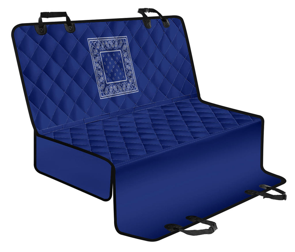 Royal Blue Bandana Car Pet Seat Covers