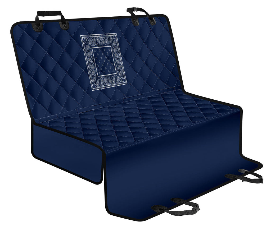 Navy Blue Bandana Car Pet Seat Covers