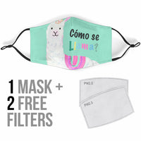 Funny Como Se LLama Face Masks - 2 Colors