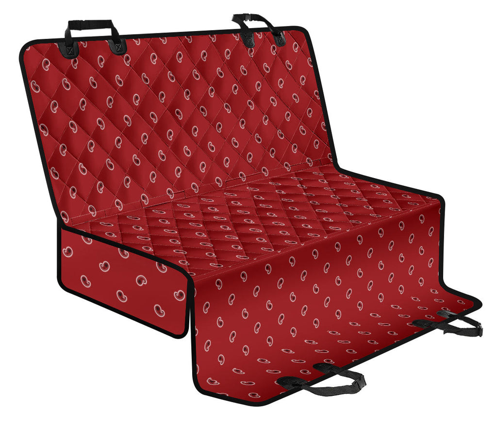 Red Paisley Car Dog Seat Covers