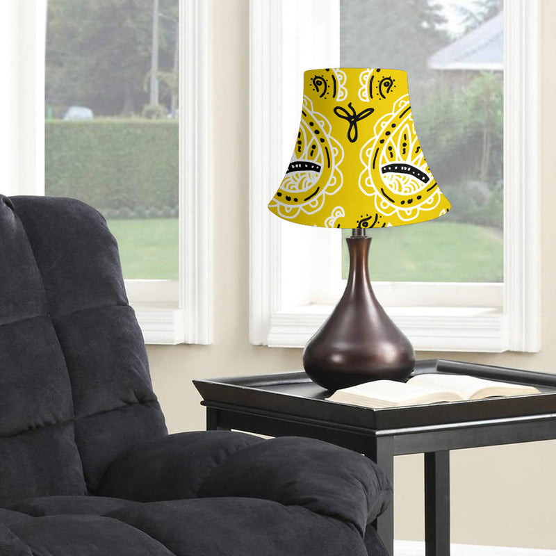 Sunshine Yellow Paisley Bell Lampshade
