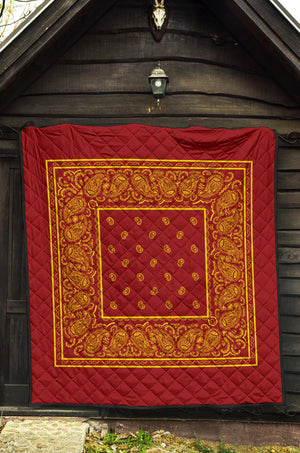 Red and Gold Bandana Quilts
