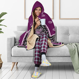Purple Sherpa Hooded Blanket