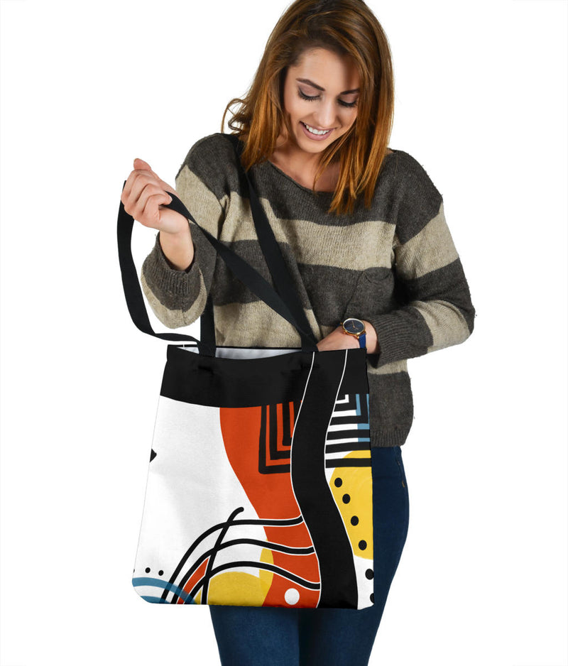 Retro Abstract Tote Bag 1