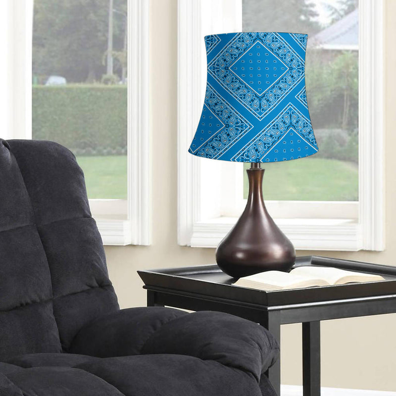 Sky Blue Bandana Drum Lampshade