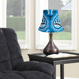 Sky Blue Paisley Bell Lampshade