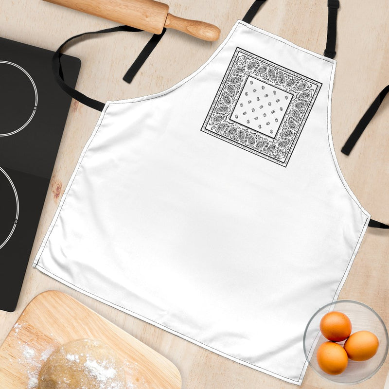 White Bandana Aprons in Kitchen