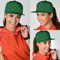 green paisley ball cap