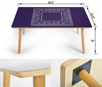 Purple Bandana Rectangular Coffee Table Assembly