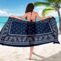 Navy Blue Bandana Sarongs