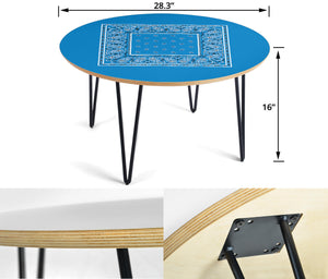 Sky Blue Bandana Table Assembly