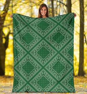 Green Bandana Blanket