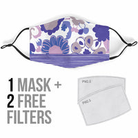 Perfectly Purple Floral Face Mask