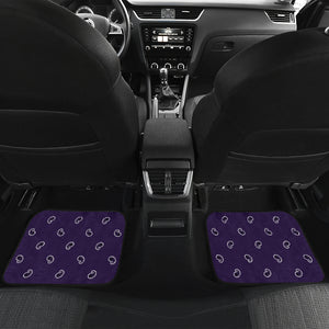 Quad Royal Purple Bandana Car Mats - Fancy